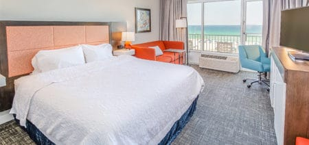 Hampton Inn Pensacola Beach Hotel Rooms | Accessible King Beachfront with Roll-In Shower Featured Image